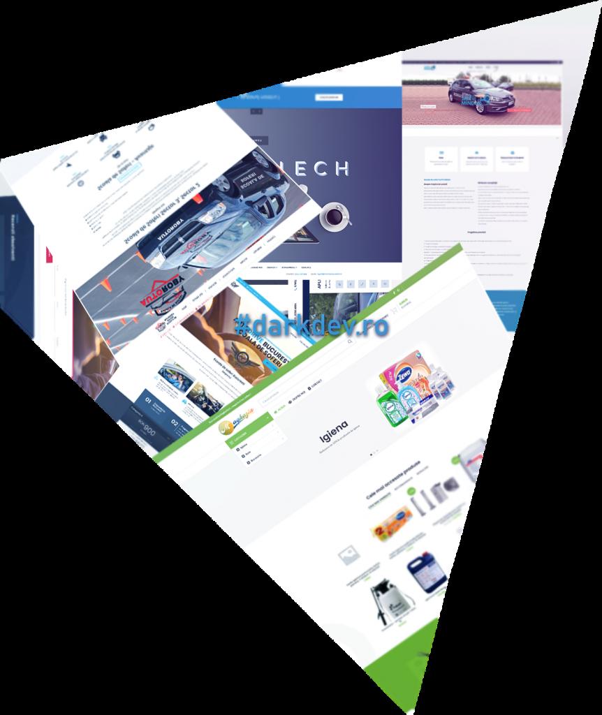 creare website prezentare si magazin online